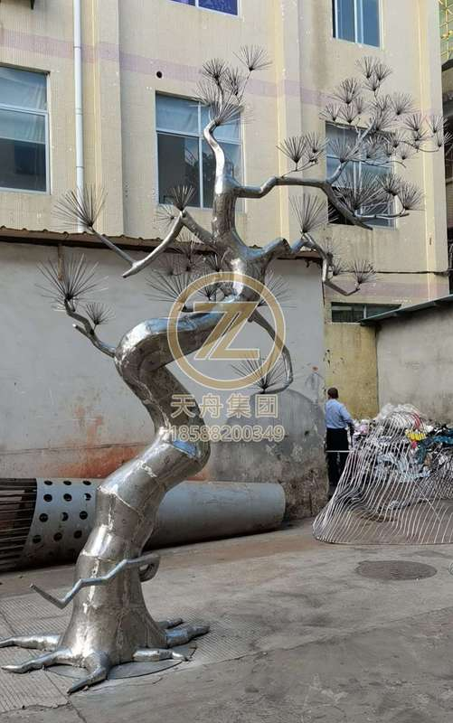 Stainless steel sculpture products_ Sculpture_ Ancient trees