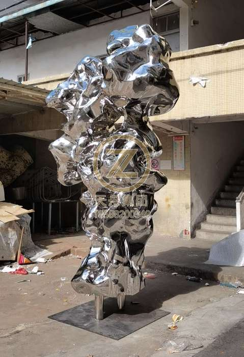 Stainless steel sculpture products_ Archaean stone